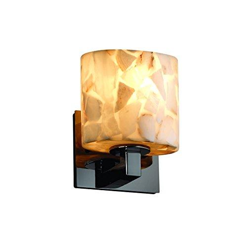 Justice Design Group ALR-8931-30-NCKL Alabaster Rocks! Collection Modular 1-Light ADA Wall Sconce ()