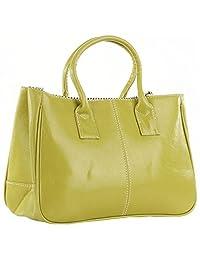 Fashion Story Women Handbag Ladies Hobo Shoulder Bag Large Compartment (Lemon)