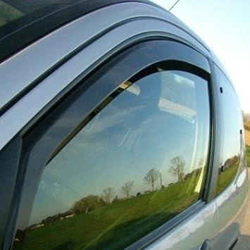 Zentimex Z901508 Windabweiser Regenabweiser Acrylglas Dunkelgrau Für Vorne Und Hinten Auto