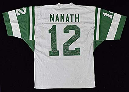 new arrival 08c4e 8a64f 1969 New York Jets Super Bowl Team Signed Joe Namath Jersey ...