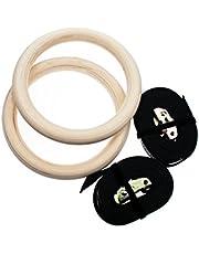 Sundried®, gymnastiek, houten turnringen met straps, fitnessstudio, ringen, crossfit, gymnastiek, sport en dip