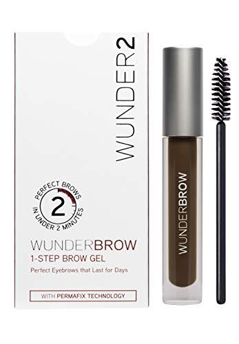 WUNDER2 WUNDERBROW Long Lasting Eyebrow Gel for Waterproof Eyebrow Makeup BlackBrown Color