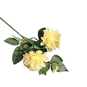 Polytree Artificial Flowers,1Pc Romantic Artificial Dahlia Flower Fake Plant for Home Garden DIY Wedding Party Table Decor 43