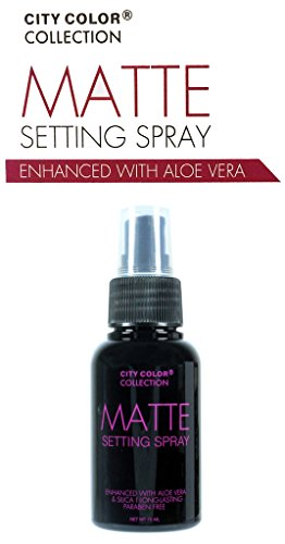 City Color Face Matte Setting Spray Enhanced with Aloe Vera Long-lasting 75ml NEW