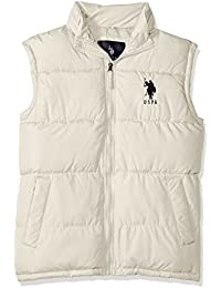 Men's Basic Puffer Vest with Big Logo