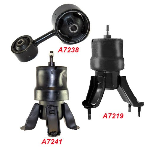K138-03 : Fits 1997-2001 TOYOTA Camry 2.2L ENGINE MOTOR MOUNT SET for AUTO 3 PCS : 1997 1998 1999 2000 2001 - A7241 A7219 A7238 - 1999 Camry Engine Motor