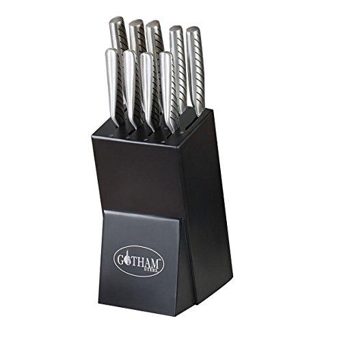 Gotham Steel 1824 10 Piece Knife, 10Piece Set, Stainless Steel by GOTHAM STEEL