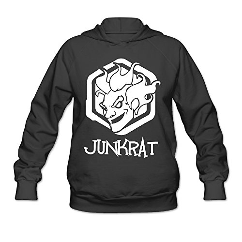 Overwatch Women's Junkrat Hoodies Hoodie Size S Black