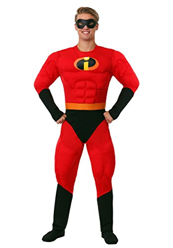 (Disguise Unisex Adult Deluxe Muscle Mr Incredible, Multi, X-Large (42-46))