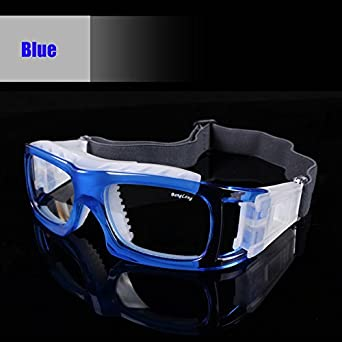 c61a72ec473 Lepakshi E  Sport Basketball Football Glasses Eye Protective Goggles Soccer  Tennis Eyeglasses Prescription Eyewear Mya Frame Xa016  Amazon.in  Clothing    ...