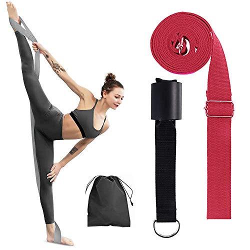 Yoga Strap Leg Stretcher, Adjustable Gymnastics Equipment for Home, Easy Install on Door Flexibility Stretching Bands…