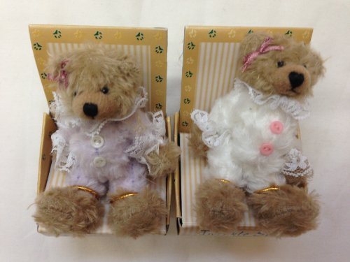 Adorable Plush Small Toy Teddy Bear Miniature 3 Inches Tall, 2 Pcs/set by Plush Image