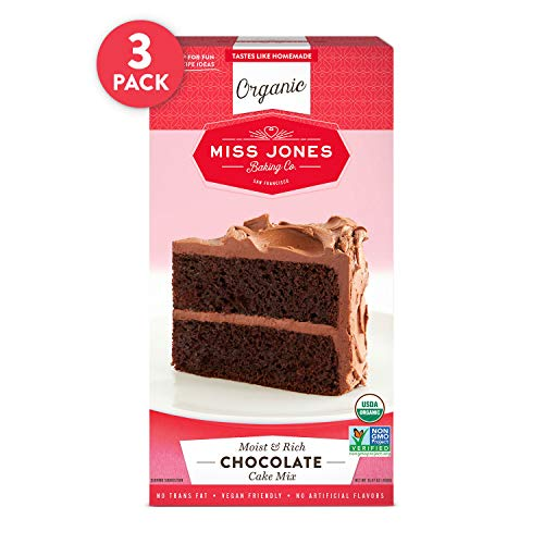 (Miss Jones Baking Organic Cake and Cupcake Mix, Non-GMO, Vegan-Friendly, Moist and Fluffy: Chocolate (Pack of 3))