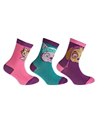 Paw Patrol Childrens Girls Official Cotton Rich Socks (Pack Of 3)
