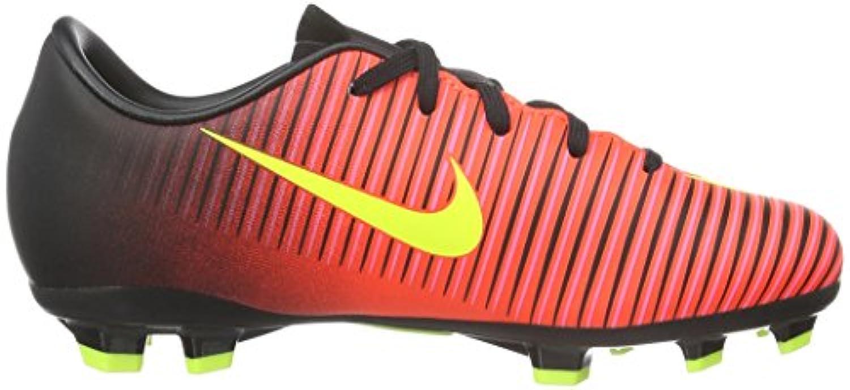 Nike Jr Mercurial Vapor Xi Fg, Unisex Kids' Football Training, Multicolor (Total Crimson/Volt/Black/Pink Blast), 1 UK (33 EU)