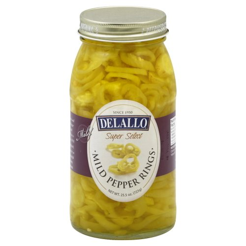 DeLallo Banana Pepper Rings, Mild 25.5 OZ(Pack of - Pickled Bananas