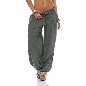 Malito Bombacho clásico Design Boyfriend Aladin Harem Pantalón Sudadera Baggy Yoga 3417 Mujer Talla Única | DeHippies.com