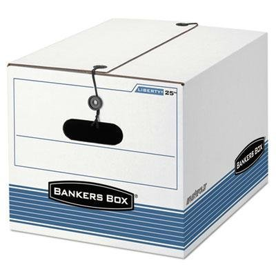 """Bankers Box - Stor/File Exrta Strength Storage Box Letter/Legal White/Blue 12/Ctn """"Product Category: File Folders Portable & Storage Box Files/Record Storage Boxes"""" -  FEL00025"""