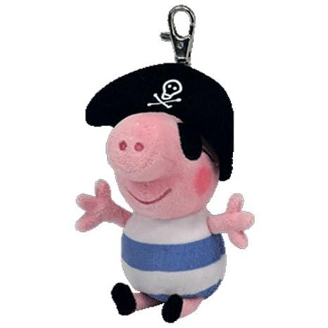 TY Beanie Peppa Pig - Llavero, diseño de pirata George ...