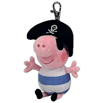 Ty Beanie Peppa Pig - Pirate George Keyclip Keychain  Amazon.co.uk  Toys    Games 3a92d093e8d9