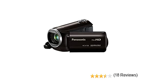 Amazon.com : Panasonic HC-V130K Full HD 38X Camcorder Video Camera ...