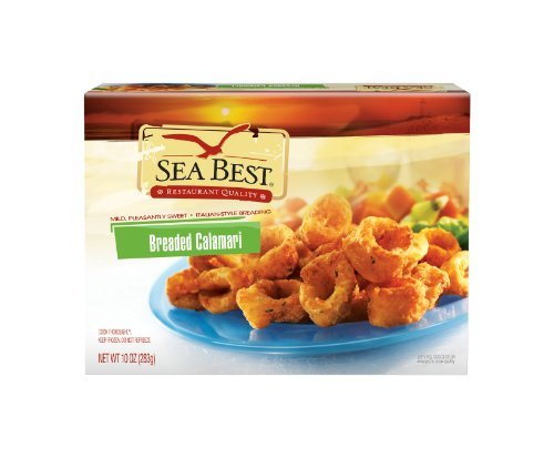 SEA BEST BREADED CALAMARI SEAFOOD 10 OZ PACK OF 2