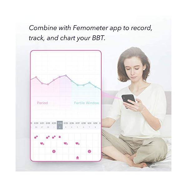 Femometer Termómetro basal - con APP (iOS y Android) en Español - Realiza Seguimiento de los Días Fértiles y Predice la Ovulación para la Planificación Familiar 5