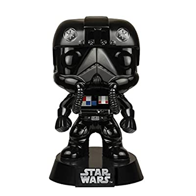 Funko POP Star Wars: Black Chrome Tie-Fighter Pilot NYCC Exclusive Action Figure: Toys & Games