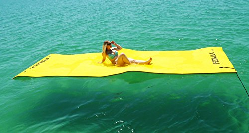 Floating Water Mat for Lake or Salt Water, 18' x 6' Giant Pad, Choose Color, Large Boat Side Foam Raft for Adults and Kids. (Yellow) - Giants Carpet