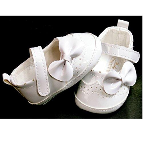 Festliche Babyschuhe Ballerinas weiß Lack Taufschuhe Gr. 18 Modell 4693