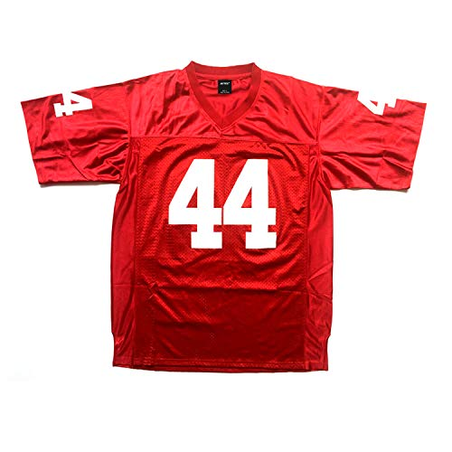 AIFFEE Men's #44 Gump Football Jersey Red Color Stitched Number N Letters Size S - 3XL (M)
