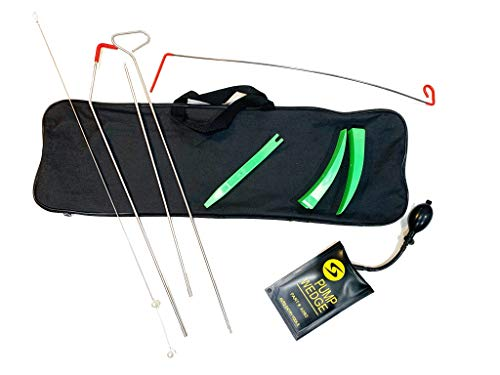 (Full Professional Kit - Easy Entry Long Reach Grabber with Air Wedge, Pry Tool, Non Marring Wedges and Carrying Case for Car)