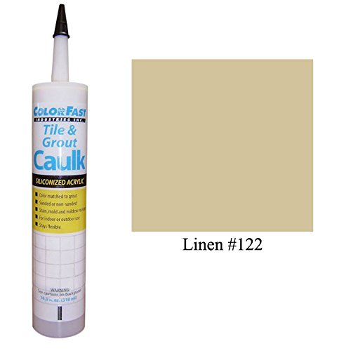 Color Fast Caulk Matched to Custom Building Products (Linen - Linen Tile