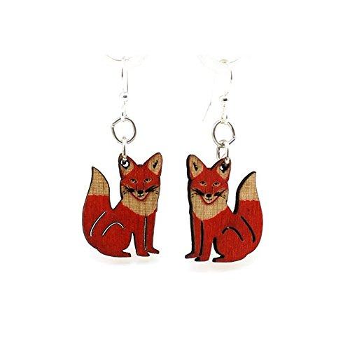 (Green Tree Jewelry Fox Earrings with Gift Box )