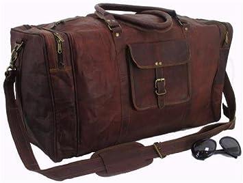 Bolsa de viaje, de la marca Classy Designs, de cuero: Amazon.es: Equipaje