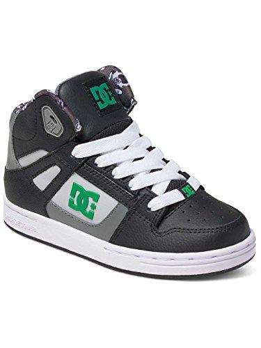 DC Shoes - Zapatillas para niño Black/Green/White
