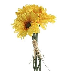 Factory Direct Craft 3 Sunny Yellow Artificial Gerbera Daisy Floral Bundles- 18 Total Blooms 88