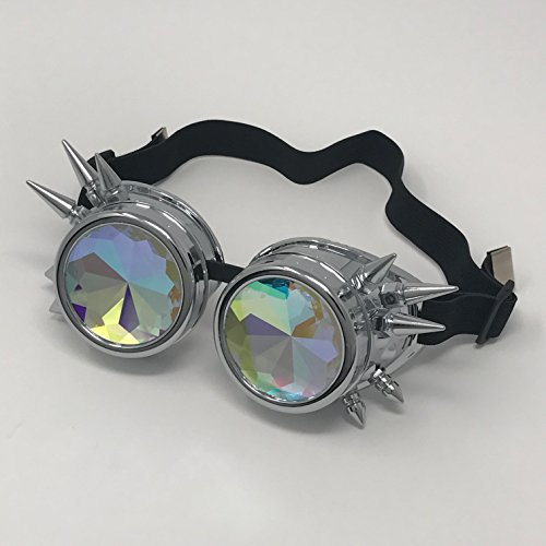 Kurios Cabinet Steampunk Goggles - Silver Spiked & (Making Costume Out Of Foam)