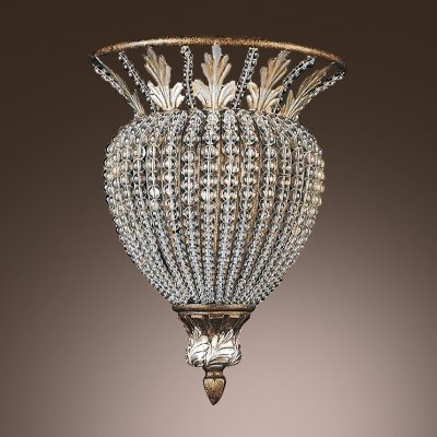 hua Magnificent Semi Flush Ceiling Light Accented with Strands of Crystal Beads Creates Tradition Look