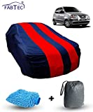 Fabtec Car Body Cover for Hyundai Santro Old Red & Blue Colour with Storage Bag + Microfiber Glove Combo!