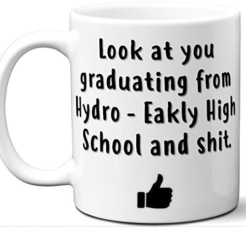 Hydro Zip Hoodie - Hydro - Eakly High School Graduation Gift. Cocoa, Coffee Mug Cup. Student High School Grad Idea Teen Graduates Boys Girls Him Her Class. Funny Congratulations. 11 oz.