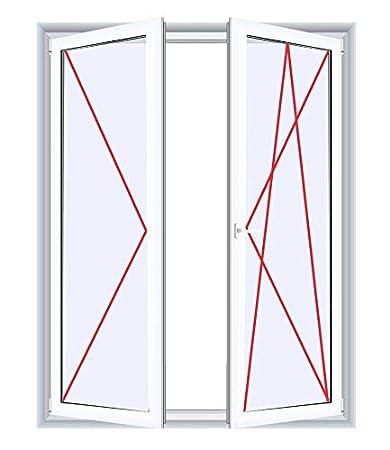 Drutex Kunststofffenster wei/ß Dreh Kipp Anschlag:DIN Rechts BxH:600x1000 Glas:2-Fach
