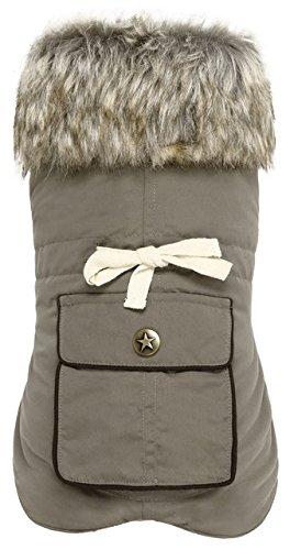 City Adventure Casual Oxford - Petmate Wouapy 90080 Army Dog Coat, Khaki, XX-Small