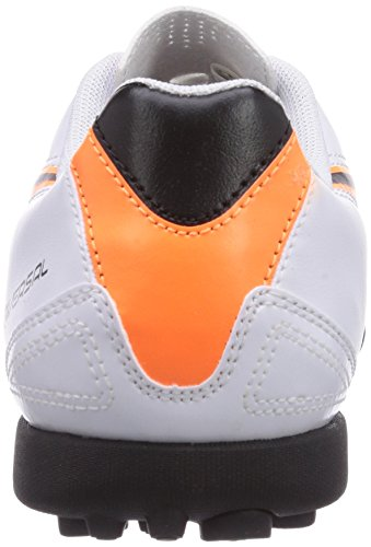 Puma Universal II TT Jr - zapatillas de fútbol de material sintético infantil blanco - Weiß (white-black-fluo flash orange 02)
