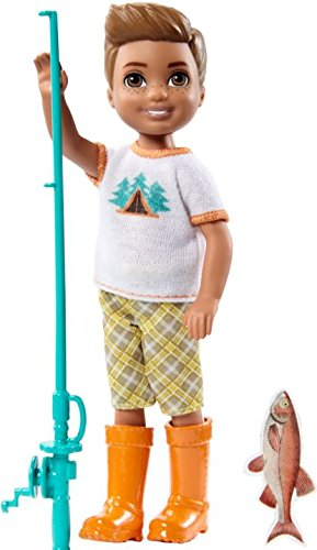 Barbie Camping Fun Boy w/Fishing Pole