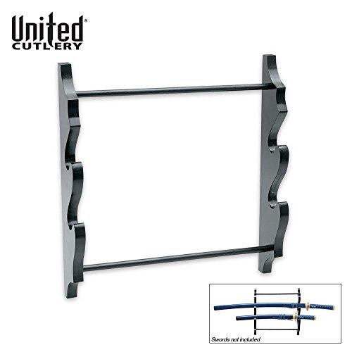 United Sword Display Stand - Two Sword Wall Display Rack DÃcor