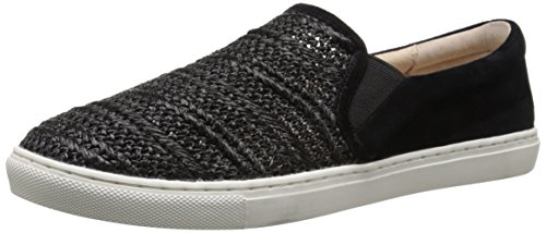 JSlides Women's Cibil Fashion Sneaker, Black, 7.5 M US