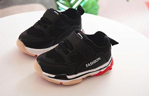JIANGFU Männliche und Weibliche Laufende Turnschuhe, Kleinkind Kinder Kinder Baby Sport Laufschuhe Brief Solide Mesh Schuhe Turnschuhe Black