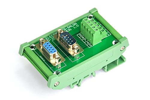 Electronics-Salon DB9 D-SUB DIN Rail Mount Interface Module, DSUB Male/Female Breakout Board.