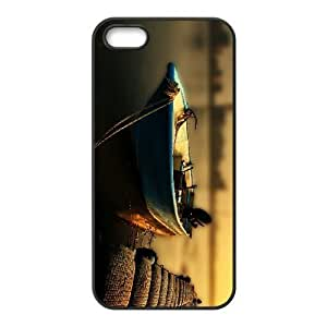 LZHCASE Diy Customized Hard Case Boat for iPhone 5,5S [Pattern-1]